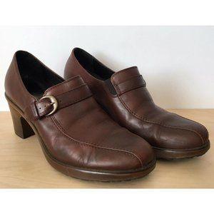 """DANSKO """"Norah"""" Brown Leather Slip On Pump Loafers"""
